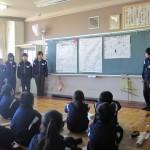 生徒会役員の東小訪問